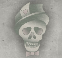 Skull, Tophat and Bow Tie